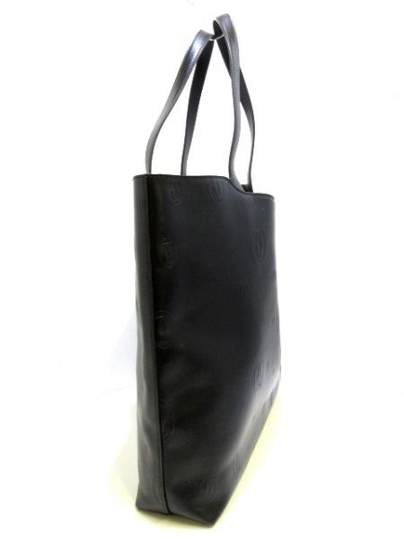 カルティエ トートバッグ美品  ハッピーバースデー 黒 レザー 2