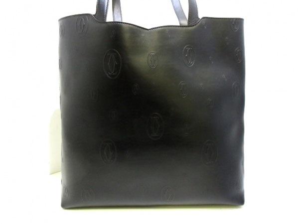 カルティエ トートバッグ美品  ハッピーバースデー 黒 レザー 3
