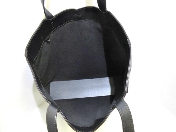 カルティエ トートバッグ美品  ハッピーバースデー 黒 レザー 6