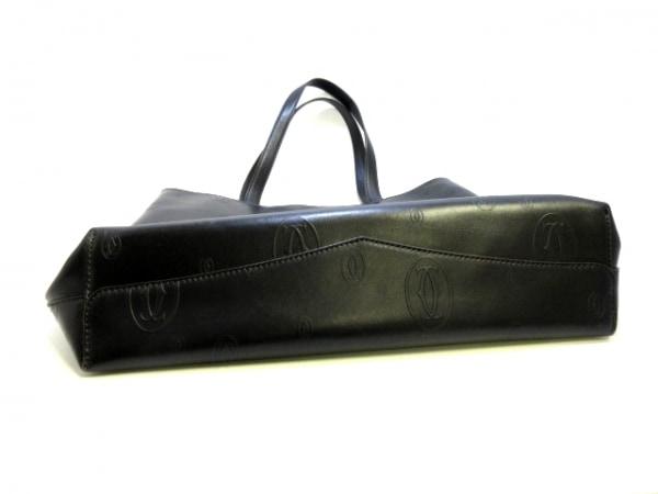 カルティエ トートバッグ美品  ハッピーバースデー 黒 レザー 8