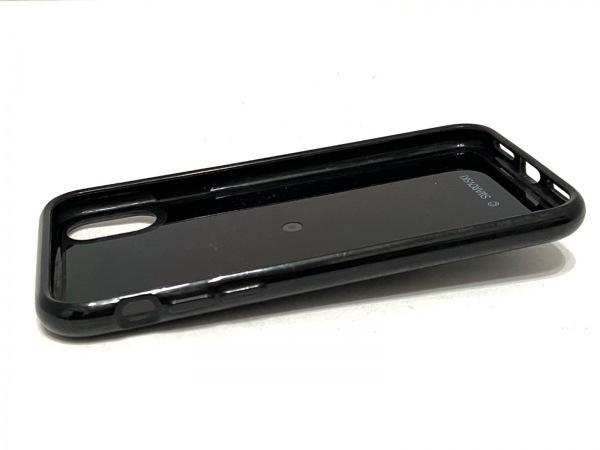 スワロフスキー 携帯電話ケース 黒×シルバー×クリア iPhoneXケース 3