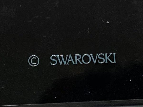 スワロフスキー 携帯電話ケース 黒×シルバー×クリア iPhoneXケース 4