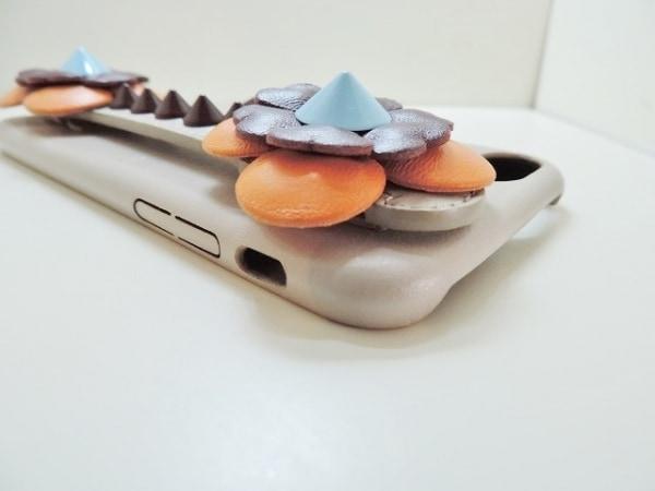 フェンディ 携帯電話ケース - ベージュ×オレンジ×マルチ レザー 5