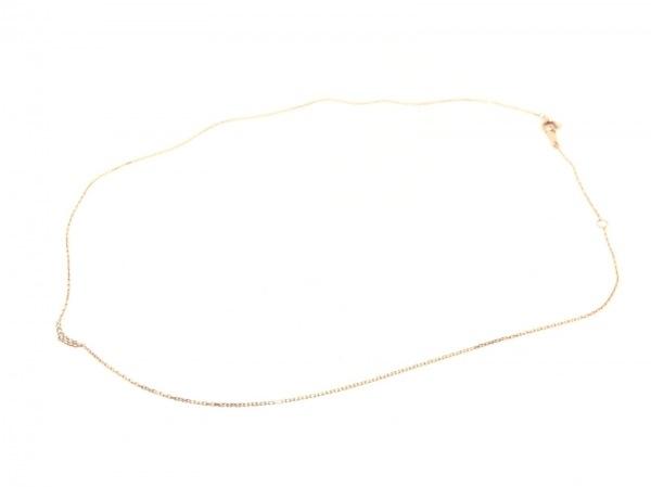 agete(アガット) ネックレス美品  K10PG×ダイヤモンド 0.05カラット 2