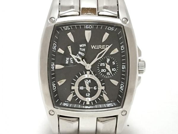 WIRED(ワイアード) 腕時計 5Y67-0AB0 メンズ トリプルカレンダー 黒 1