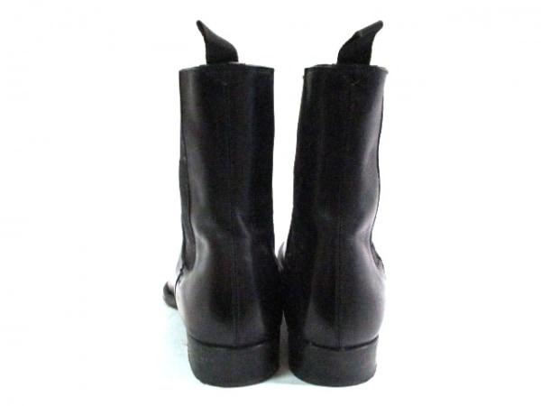 グッチ ショートブーツ メンズ 黒 サイドゴア レザー×化学繊維 3