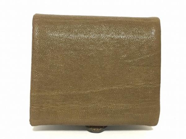 JAMIN PUECH(ジャマンピエッシェ) 3つ折り財布 カーキ レザー 2