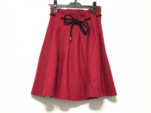 バーバリーブルーレーベル スカート サイズ36 S レディース - レッド 1