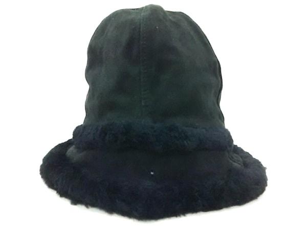 UGG(アグ) 帽子 O/S 黒 スエード×コットン 1