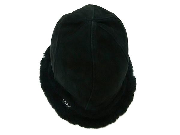 UGG(アグ) 帽子 O/S 黒 スエード×コットン 3