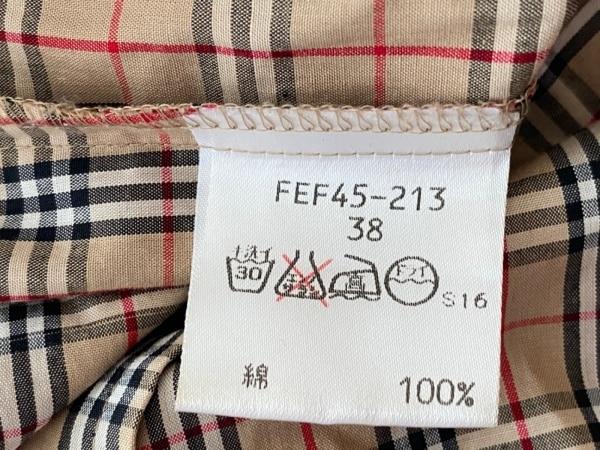 バーバリーブルーレーベル 七分袖シャツブラウス サイズ38 M美品 4
