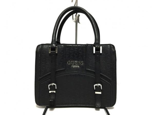 GUESS(ゲス) ハンドバッグ 黒 型押し加工 合皮 1