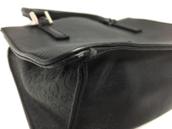 GUESS(ゲス) ハンドバッグ 黒 型押し加工 合皮 5