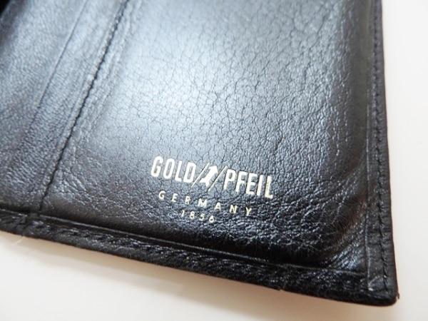 GOLD PFEIL(ゴールドファイル) 札入れ 黒 レザー 4