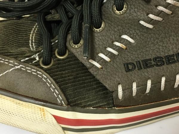 ディーゼル スニーカー 25 レディース カーキ×ダークブラウン 6