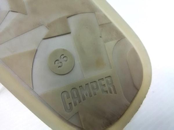 カンペール スニーカー 36 レディース - 白 レザー×化学繊維 6