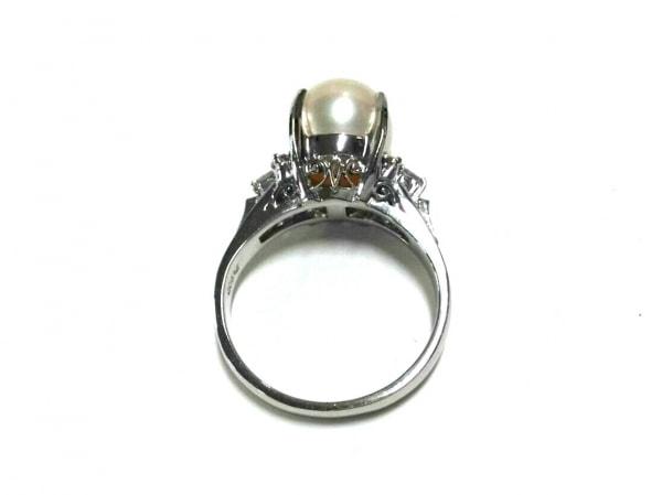 ノーブランド リング美品  Pt900×ダイヤモンド×パール アイボリー 4