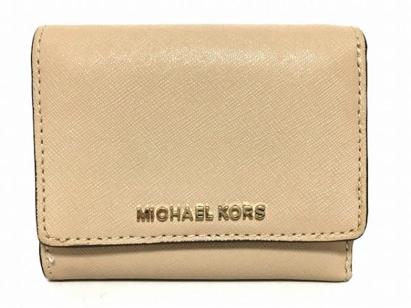 MICHAEL KORS(マイケルコース) 3つ折り財布 - ベージュ レザー 1