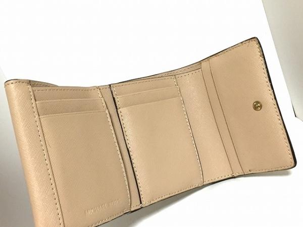 MICHAEL KORS(マイケルコース) 3つ折り財布 - ベージュ レザー 3