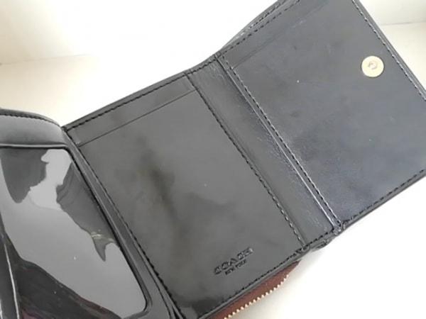 コーチ 3つ折り財布 シグネチャー柄 F41302 ダークブラウン×黒 3