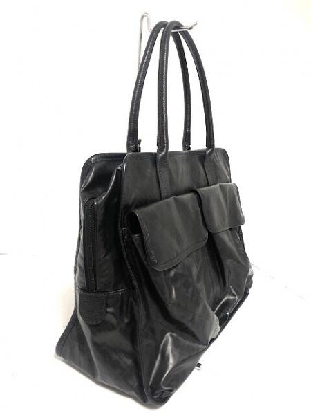 ゲラルディーニ ハンドバッグ 黒 PVC(塩化ビニール)×レザー 2
