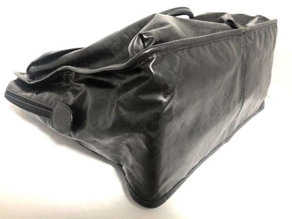 ゲラルディーニ ハンドバッグ 黒 PVC(塩化ビニール)×レザー 5