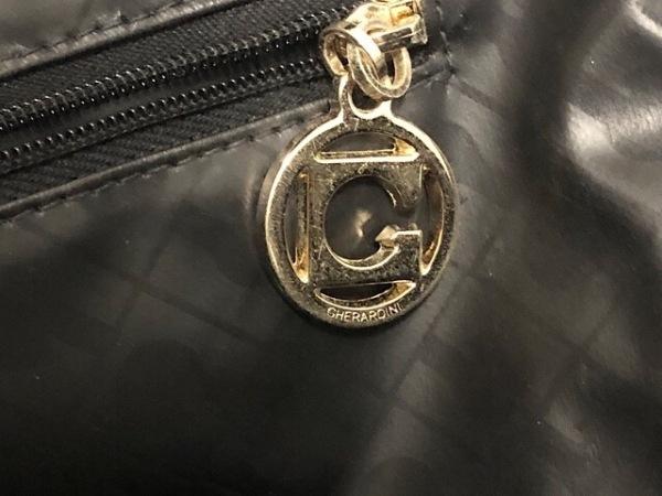 ゲラルディーニ ハンドバッグ 黒 PVC(塩化ビニール)×レザー 8