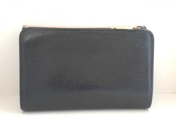 ミュウミュウ 3つ折り財布 - 5M1225 ベージュ×黒 リボン レザー 2
