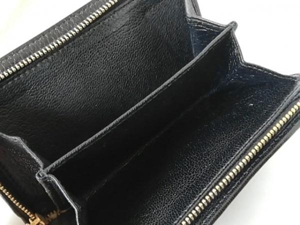 ミュウミュウ 3つ折り財布 - 5M1225 ベージュ×黒 リボン レザー 4