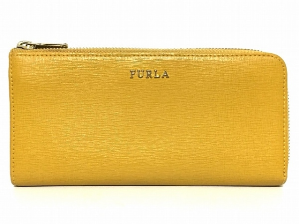 FURLA(フルラ) 長財布 - ライトブラウン L字ファスナー レザー 1