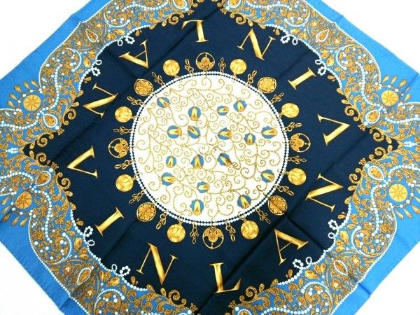 LANVIN(ランバン) スカーフ美品  - ブルー×ネイビー×マルチ 1