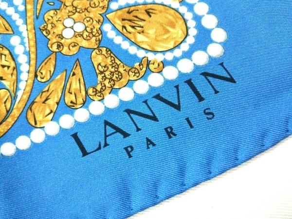 LANVIN(ランバン) スカーフ美品  - ブルー×ネイビー×マルチ 2