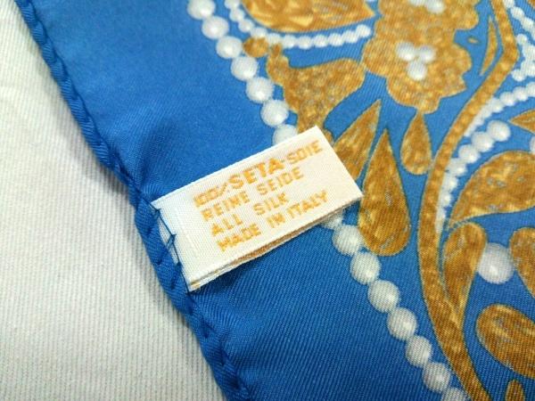 LANVIN(ランバン) スカーフ美品  - ブルー×ネイビー×マルチ 3