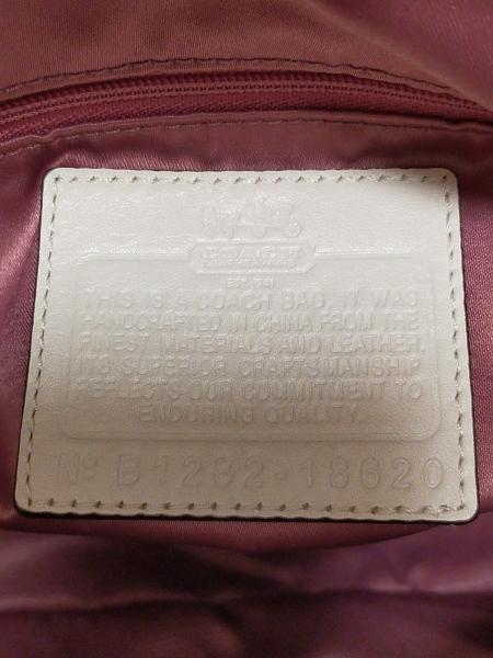 COACH(コーチ) ハンドバッグ美品  18620 アイボリー レザー 8