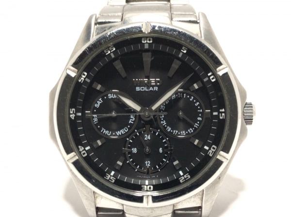 WIRED(ワイアード) 腕時計 V14J-0AS0 メンズ トリプルカレンダー 黒 1