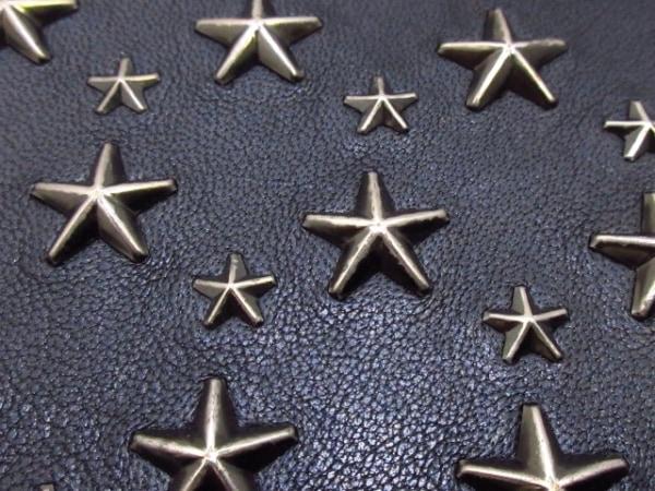 ジミーチュウ 小物入れ フィリッパ 黒×シルバー レザー×金属素材 6