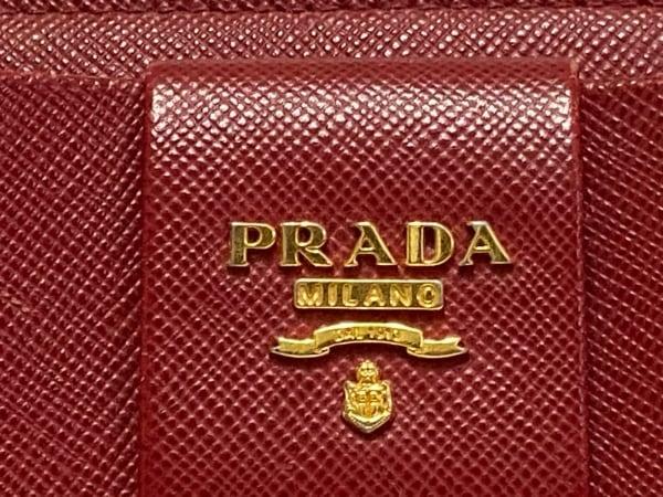 PRADA(プラダ) 長財布 - 1M1183 レッド L字ファスナー/リボン レザー 5