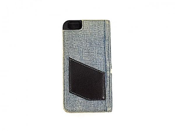 DIESEL(ディーゼル) 携帯電話ケース ライトブルー×黒 手帳型 2