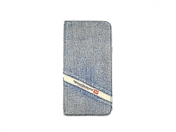 DIESEL(ディーゼル) 携帯電話ケース ライトブルー×黒 手帳型 1