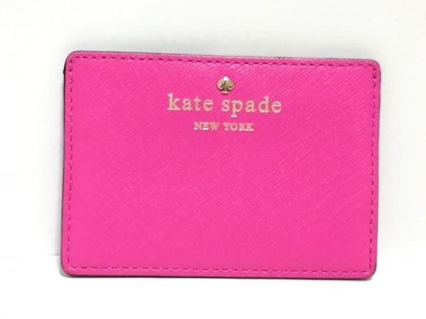 Kate spade(ケイトスペード) カードケース ピンク レザー 1
