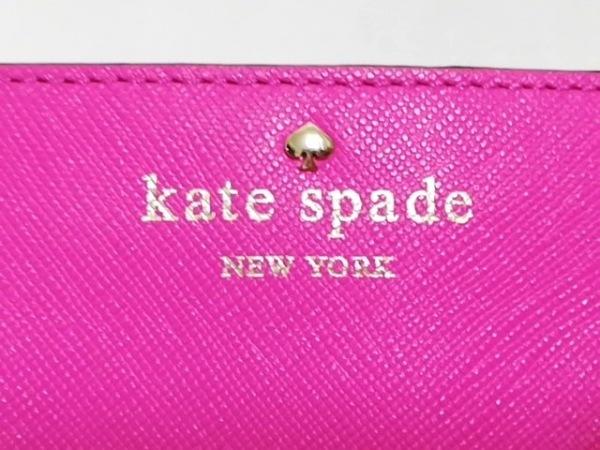 Kate spade(ケイトスペード) カードケース ピンク レザー 4
