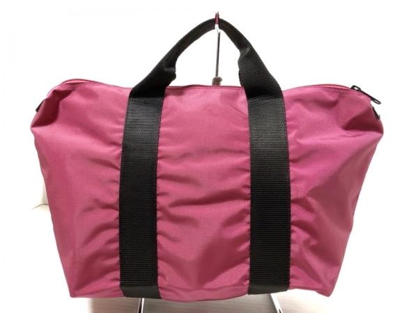 エルベシャプリエ ハンドバッグ美品  ピンク×黒 ナイロン 1