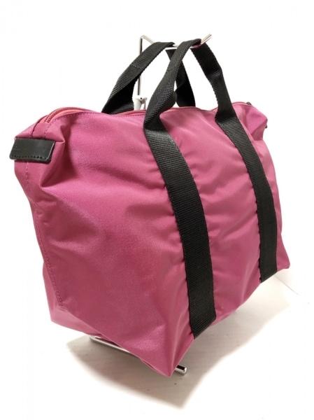エルベシャプリエ ハンドバッグ美品  ピンク×黒 ナイロン 2