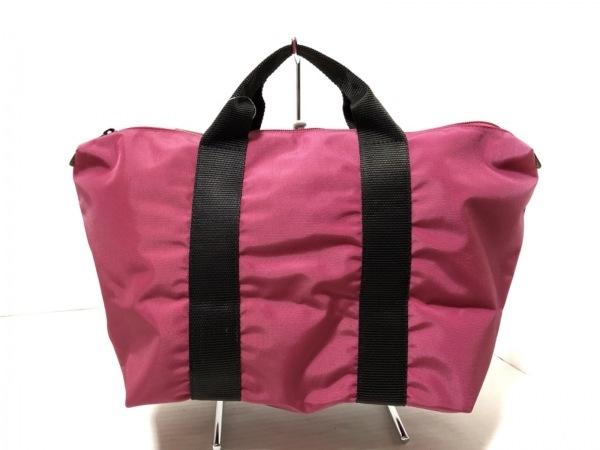 エルベシャプリエ ハンドバッグ美品  ピンク×黒 ナイロン 3