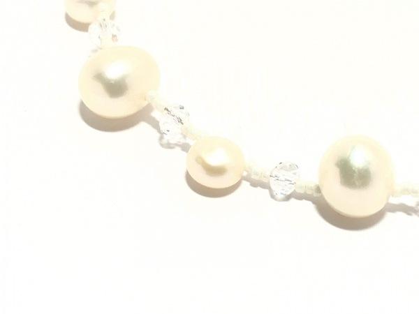 ヴァンドーム青山 ネックレス美品  - アイボリー×クリア×シルバー 3