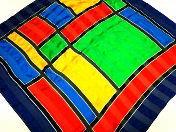 イヴサンローラン スカーフ美品  - ブルー×レッド×マルチ 1