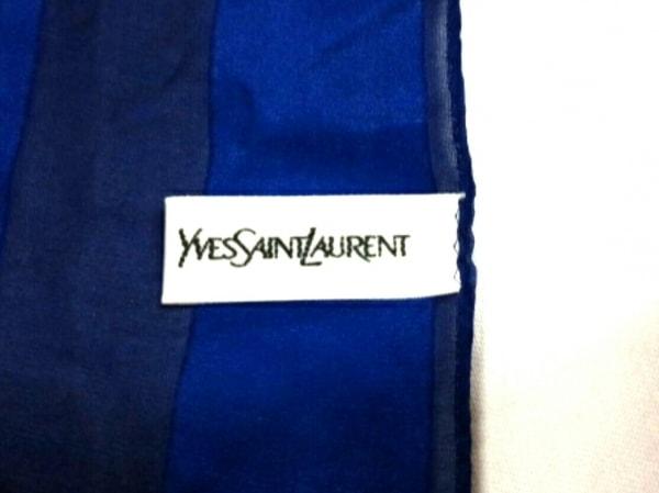 イヴサンローラン スカーフ美品  - ブルー×レッド×マルチ 2