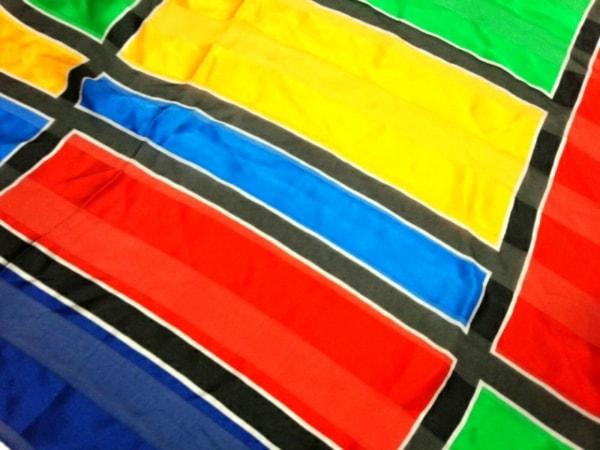 イヴサンローラン スカーフ美品  - ブルー×レッド×マルチ 4