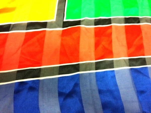 イヴサンローラン スカーフ美品  - ブルー×レッド×マルチ 5