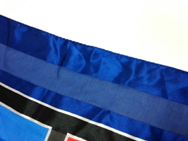 イヴサンローラン スカーフ美品  - ブルー×レッド×マルチ 6